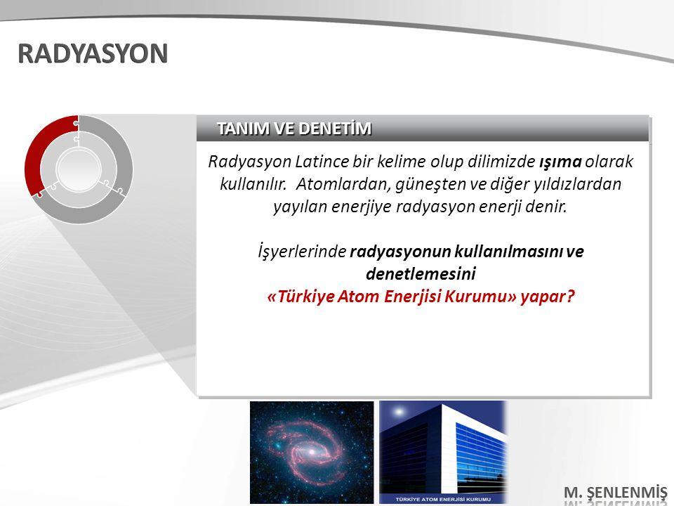 «Türkiye Atom Enerjisi Kurumu» yapar