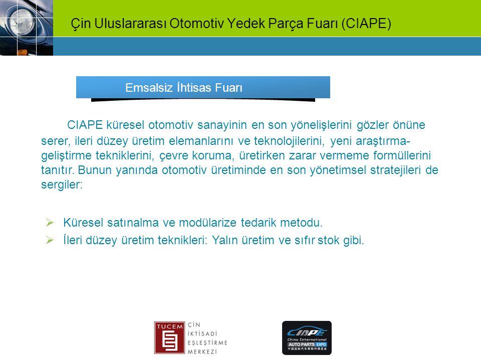 Çin Uluslararası Otomotiv Yedek Parça Fuarı (CIAPE)
