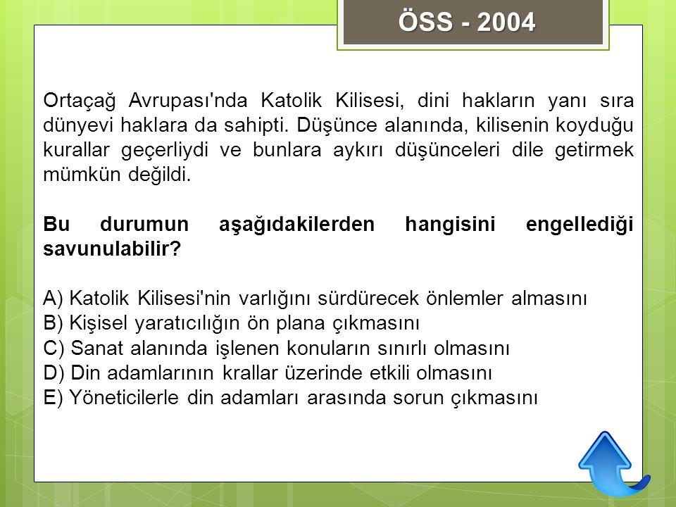 ÖSS - 2004
