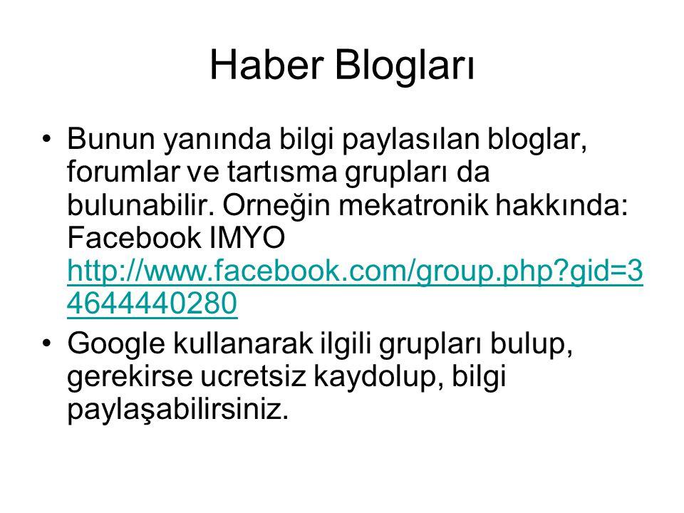 Haber Blogları