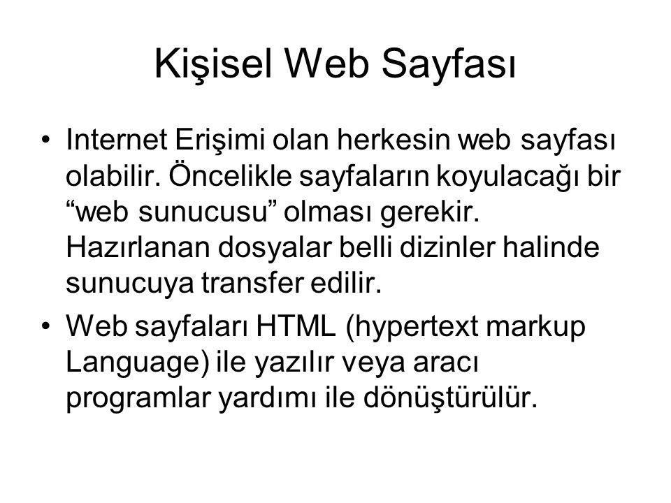 Kişisel Web Sayfası