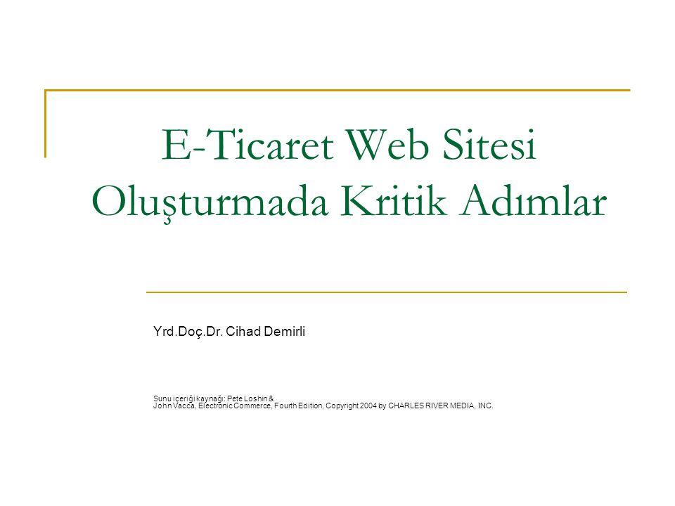 E-Ticaret Web Sitesi Oluşturmada Kritik Adımlar