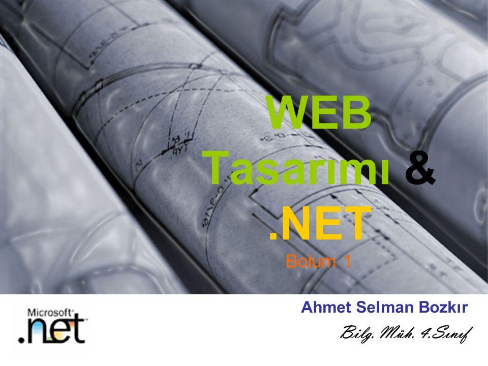 WEB Tasarımı & .NET Bolum 1