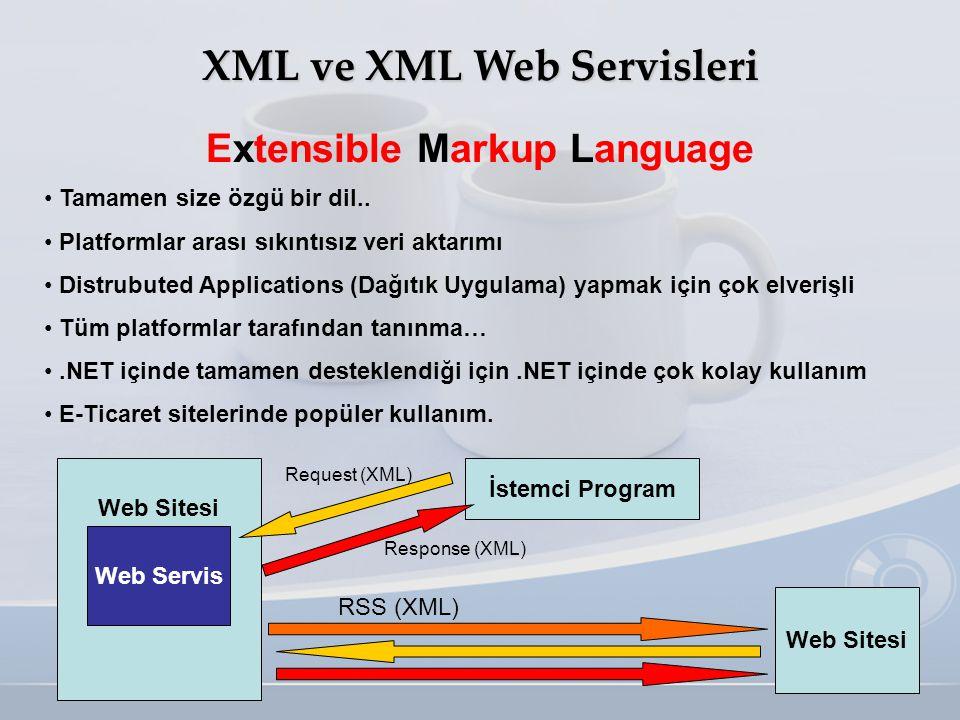 XML ve XML Web Servisleri Extensible Markup Language