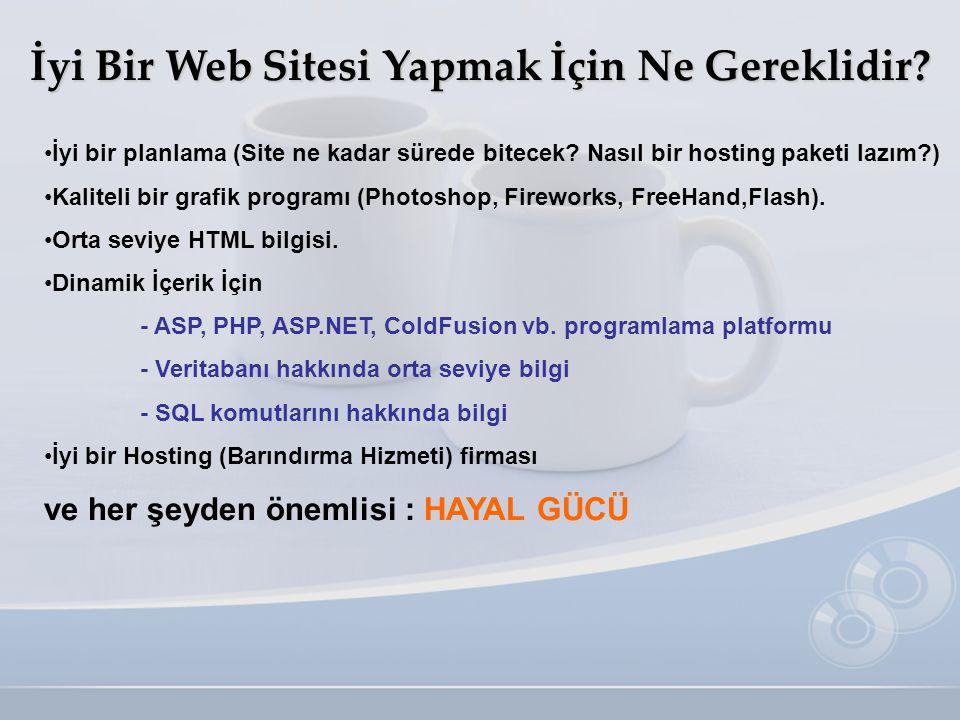 İyi Bir Web Sitesi Yapmak İçin Ne Gereklidir