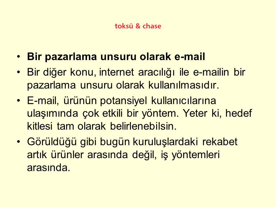 Bir pazarlama unsuru olarak e-mail