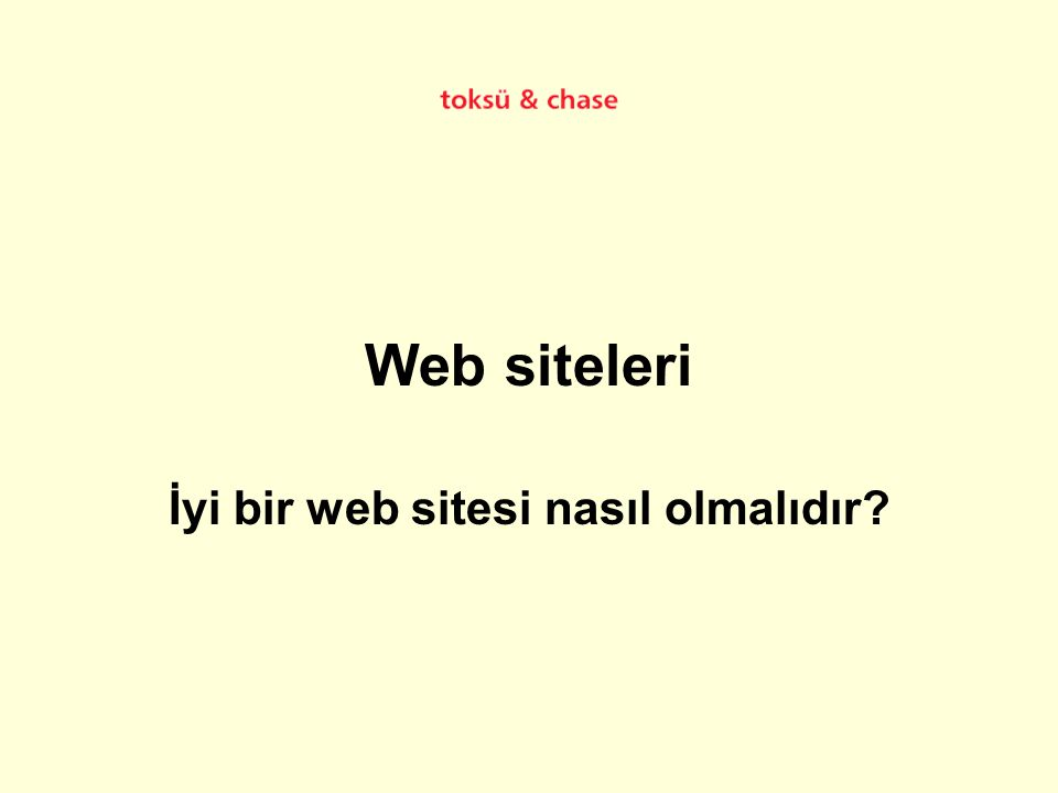 İyi bir web sitesi nasıl olmalıdır