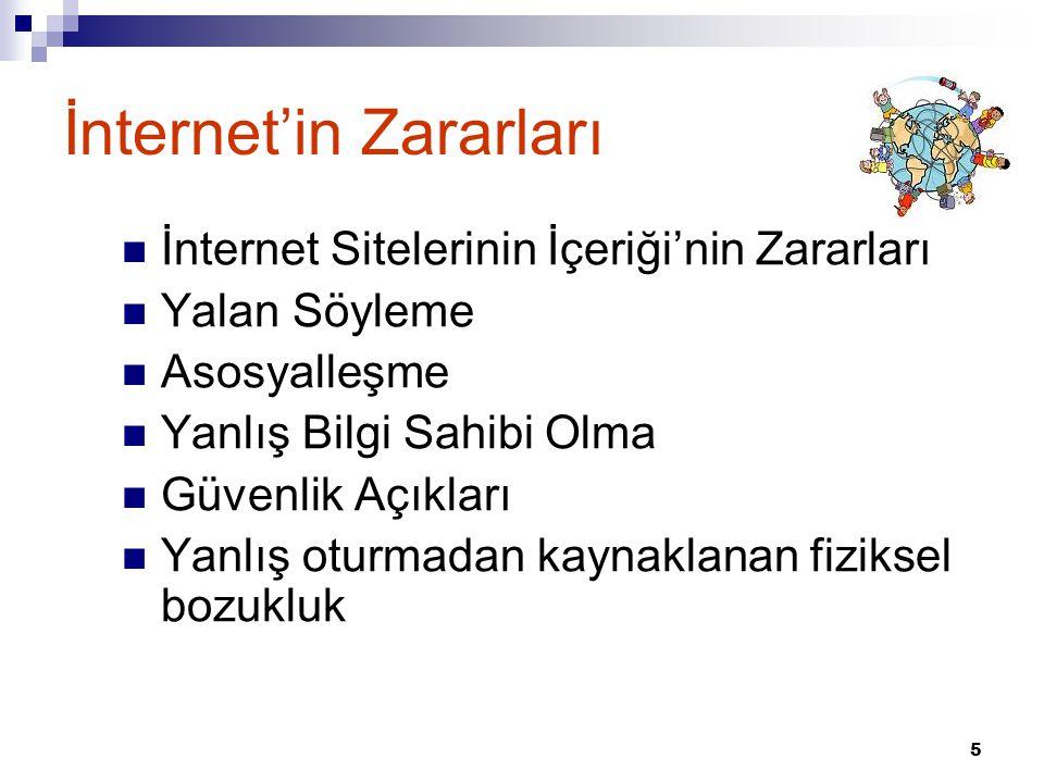 İnternet'in Zararları