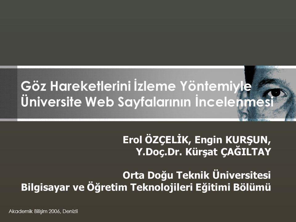 Göz Hareketlerini İzleme Yöntemiyle Üniversite Web Sayfalarının İncelenmesi