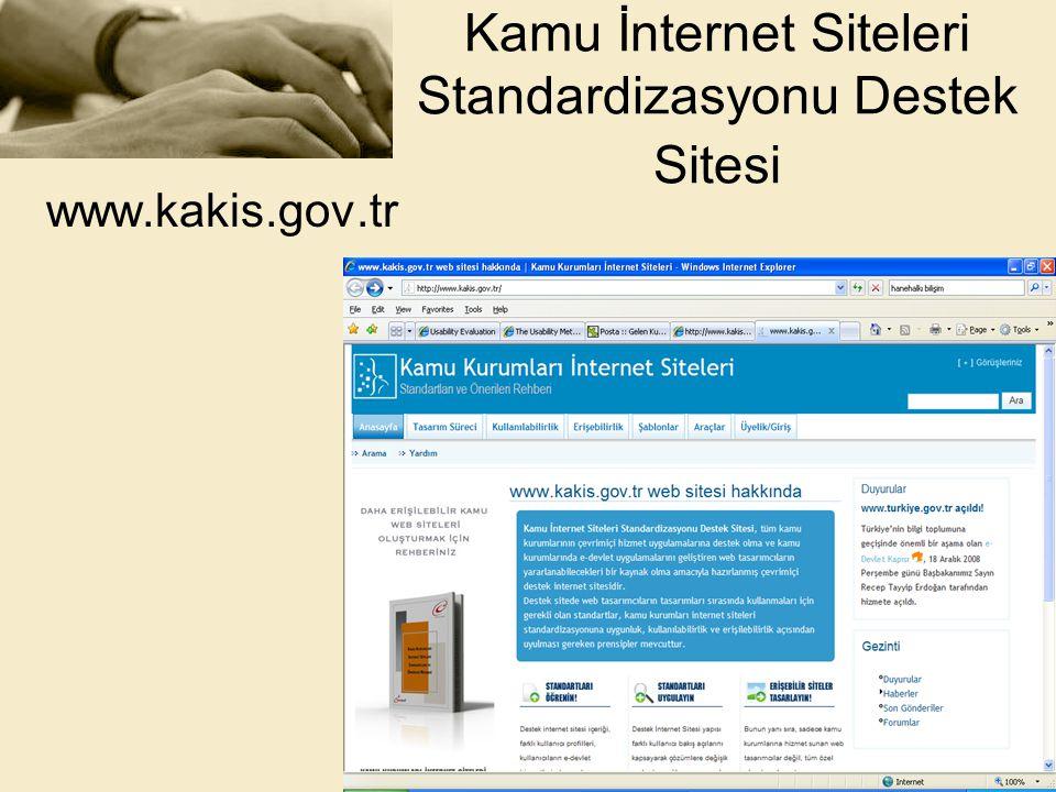 Kamu İnternet Siteleri Standardizasyonu Destek Sitesi