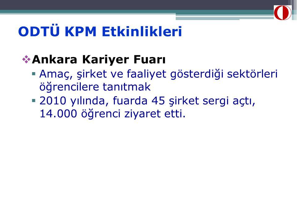 ODTÜ KPM Etkinlikleri Ankara Kariyer Fuarı