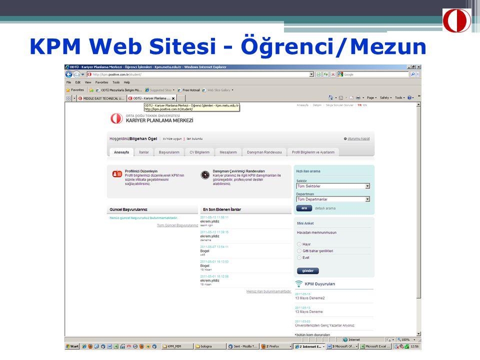 KPM Web Sitesi - Öğrenci/Mezun