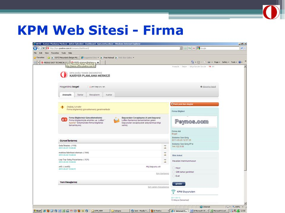 KPM Web Sitesi - Firma Peynos.com