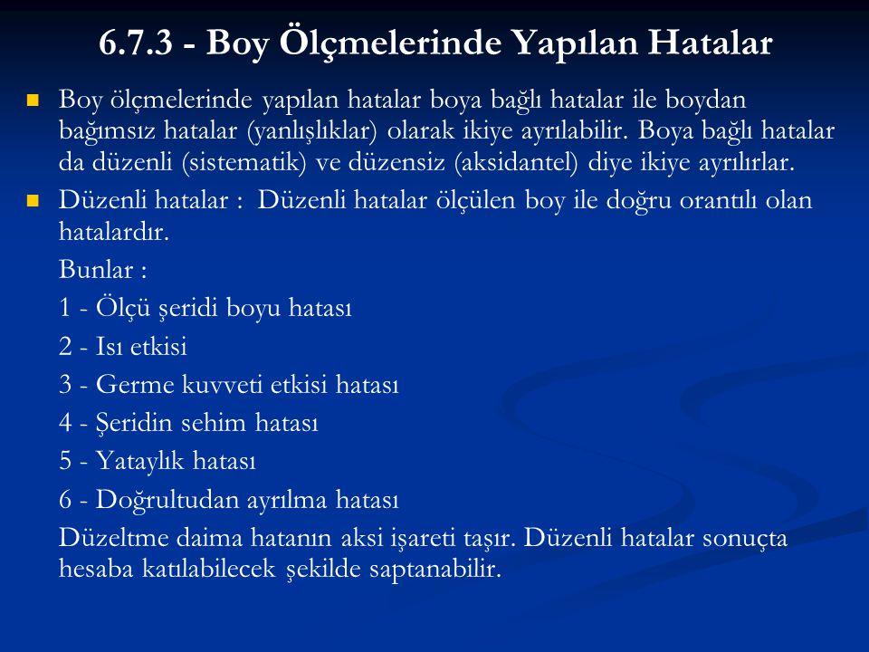 6.7.3 - Boy Ölçmelerinde Yapılan Hatalar