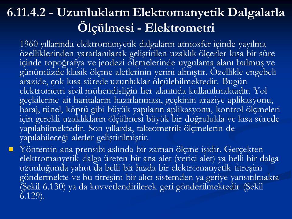 6.11.4.2 - Uzunlukların Elektromanyetik Dalgalarla Ölçülmesi - Elektrometri