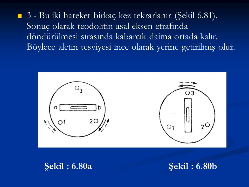 3 - Bu iki hareket birkaç kez tekrarlanır (Şekil 6. 81)