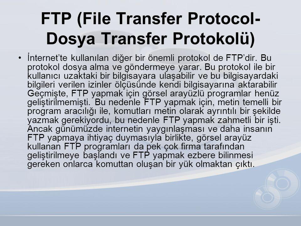 FTP (File Transfer Protocol-Dosya Transfer Protokolü)