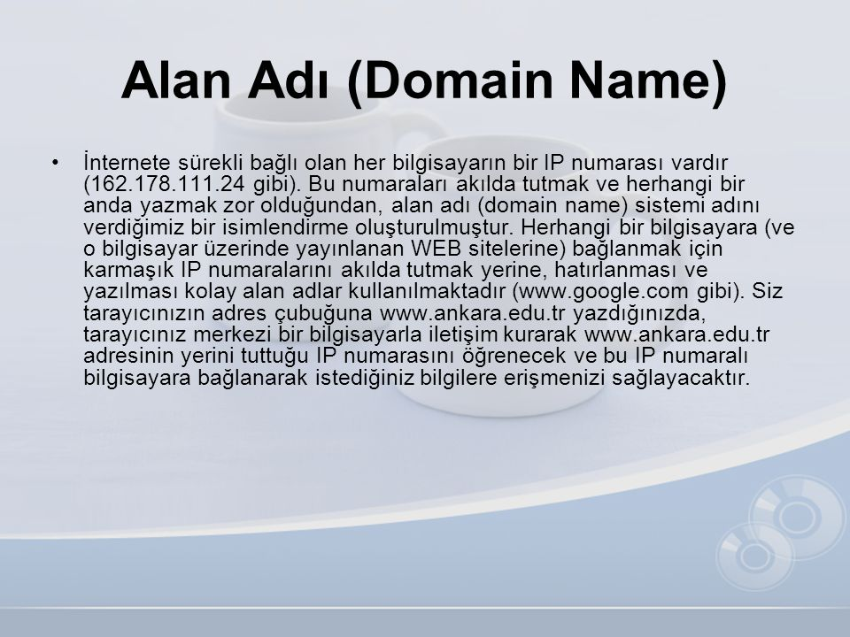 Alan Adı (Domain Name)