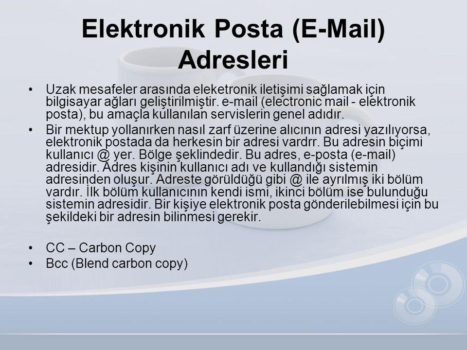 Elektronik Posta (E-Mail) Adresleri