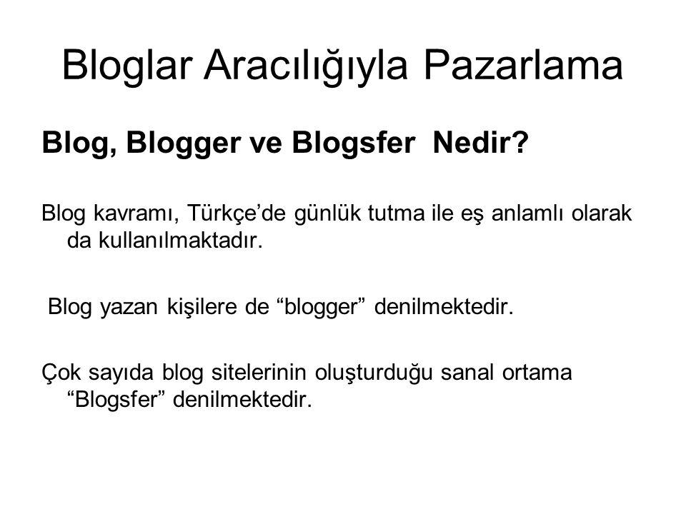 Bloglar Aracılığıyla Pazarlama