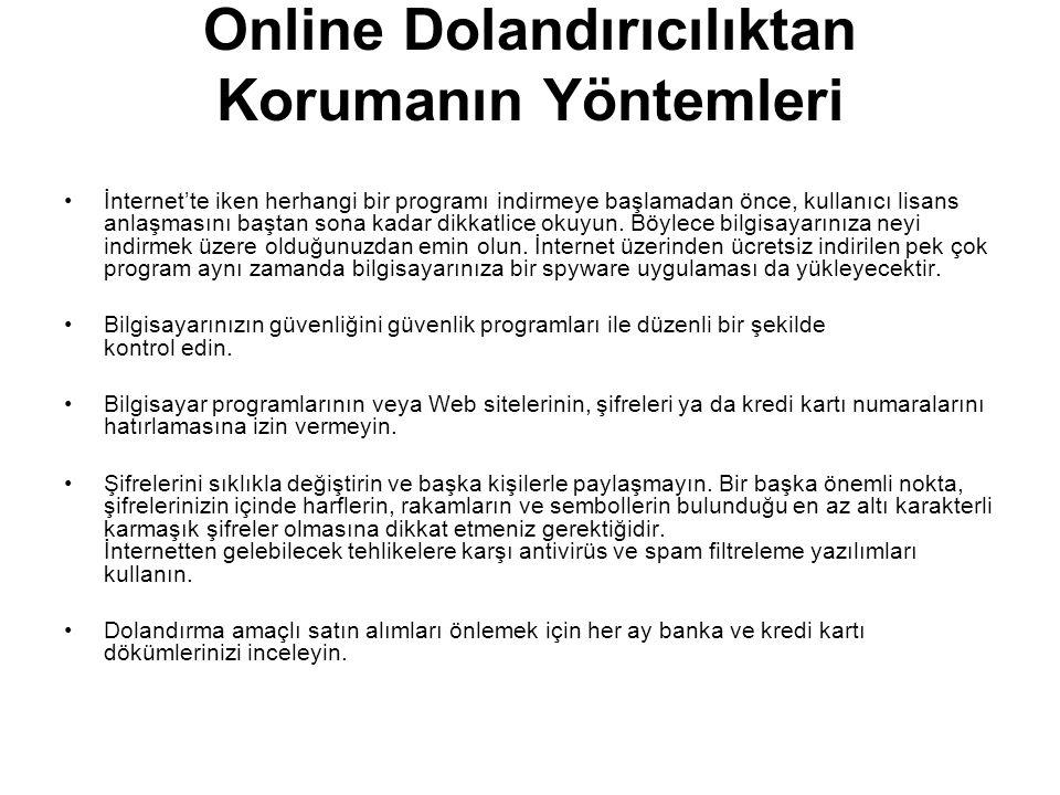 Online Dolandırıcılıktan Korumanın Yöntemleri