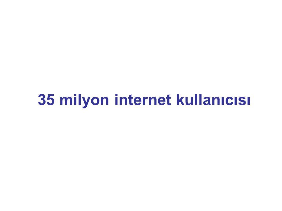 35 milyon internet kullanıcısı