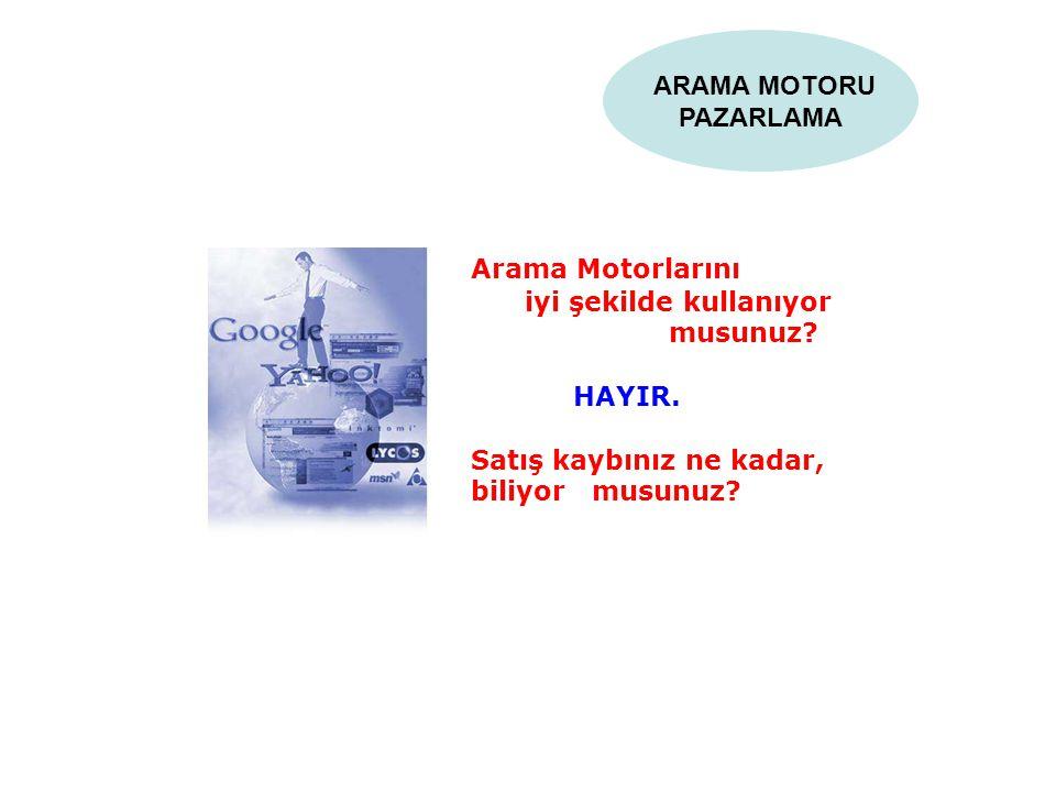 ARAMA MOTORU PAZARLAMA. Arama Motorlarını. iyi şekilde kullanıyor.