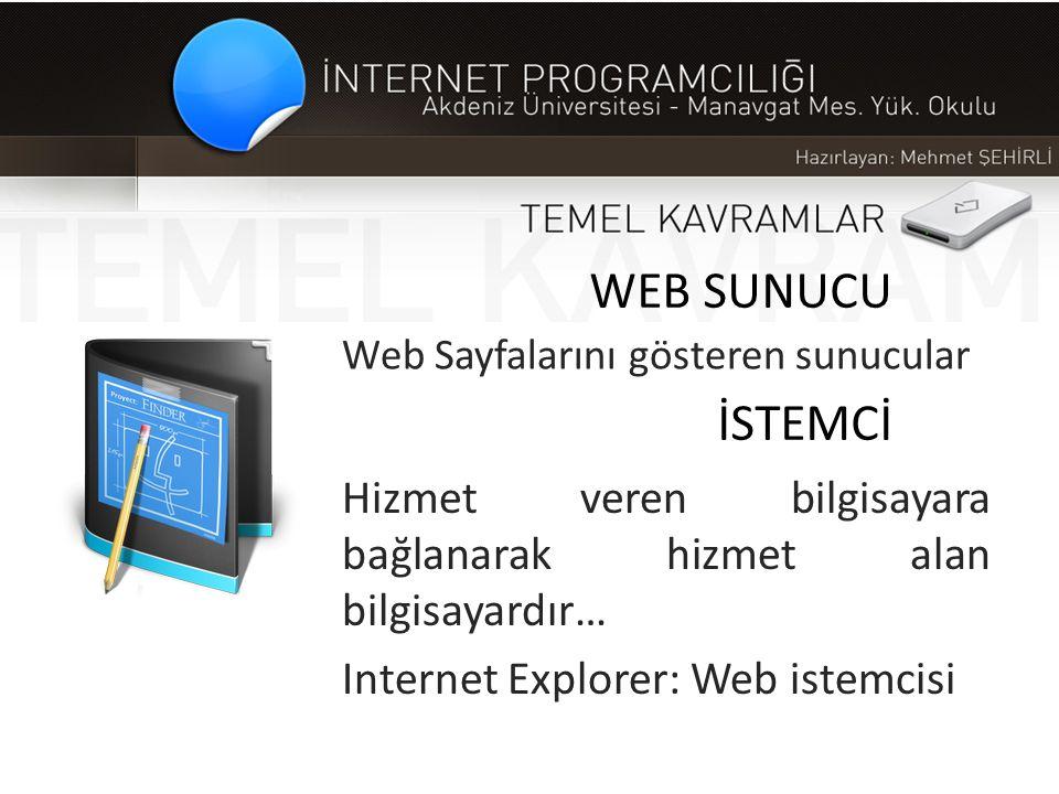 Web Sayfalarını gösteren sunucular