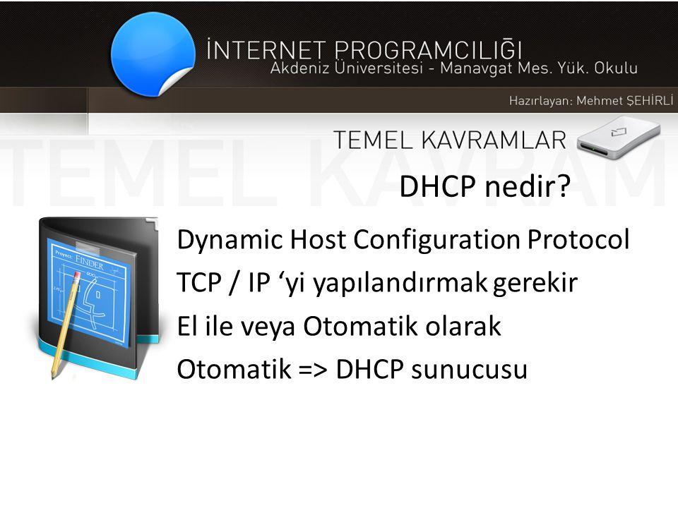 DHCP nedir Dynamic Host Configuration Protocol