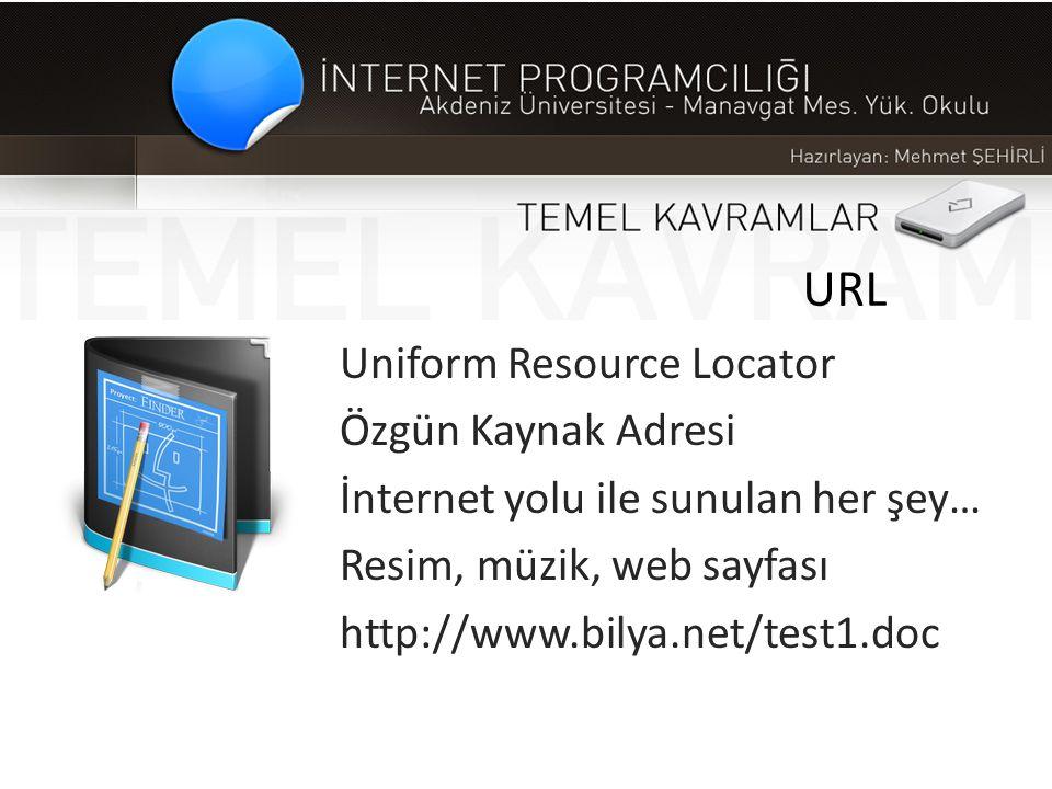 URL Uniform Resource Locator Özgün Kaynak Adresi