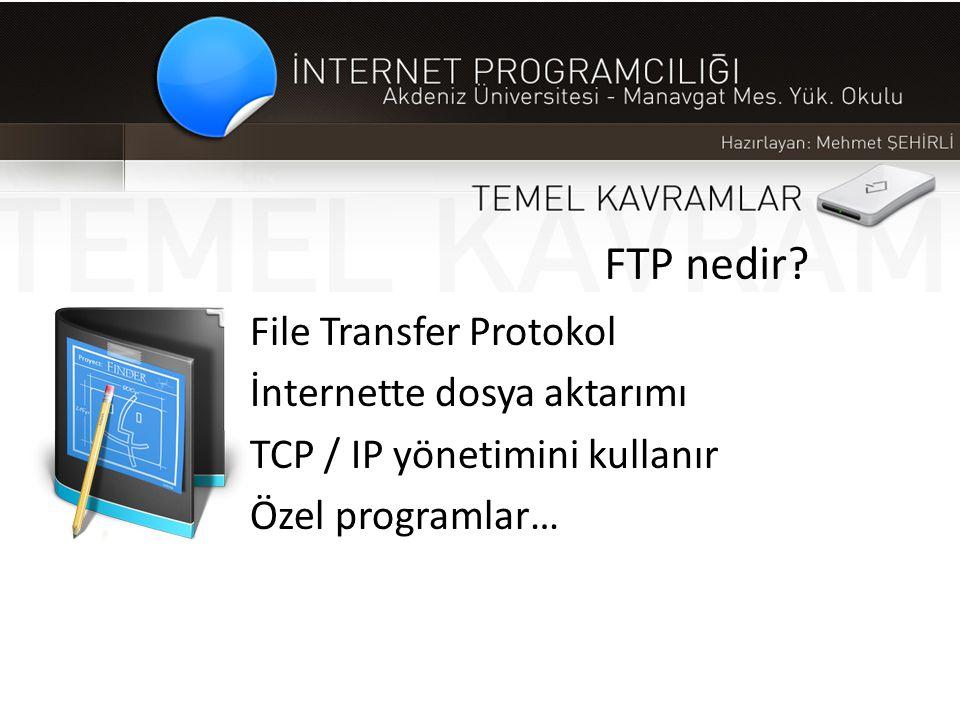 FTP nedir File Transfer Protokol İnternette dosya aktarımı