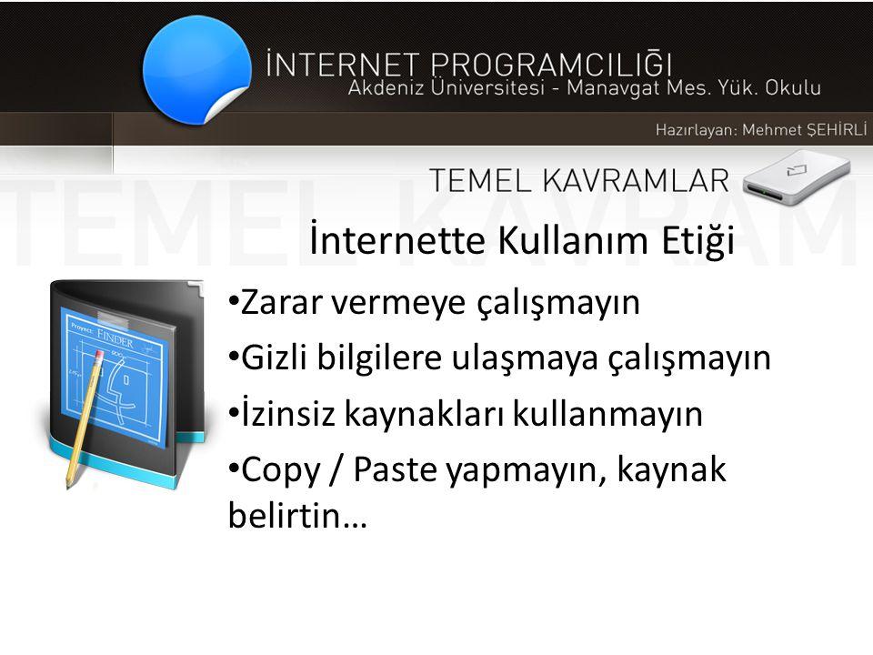 İnternette Kullanım Etiği