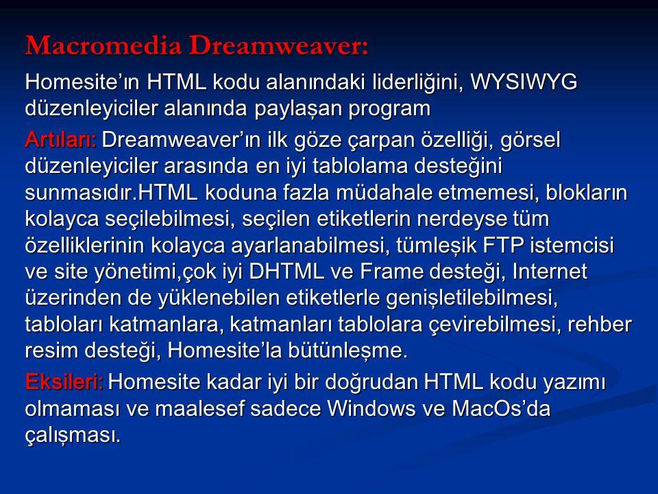 Macromedia Dreamweaver: