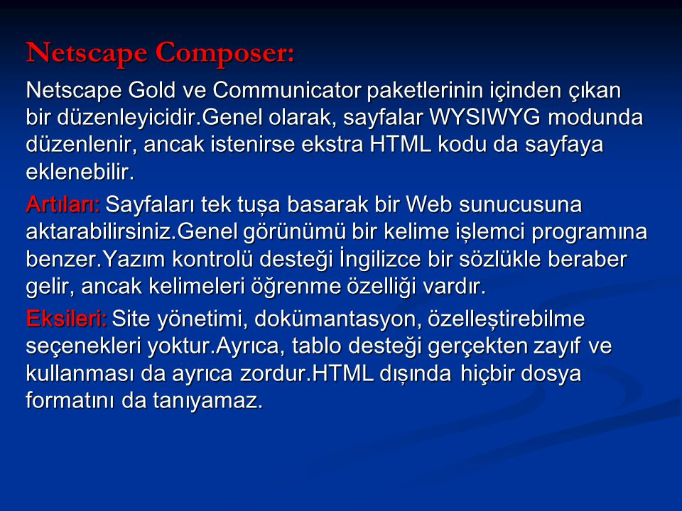Netscape Composer: