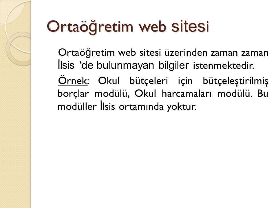 Ortaöğretim web sitesi