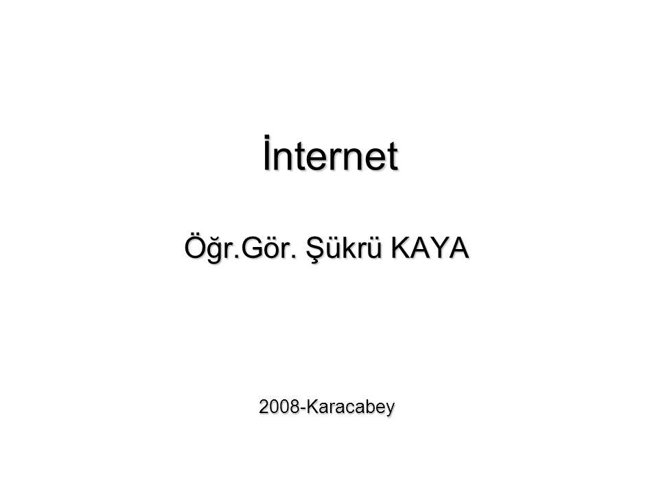 İnternet Öğr.Gör. Şükrü KAYA 2008-Karacabey