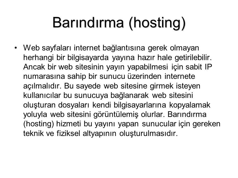 Barındırma (hosting)