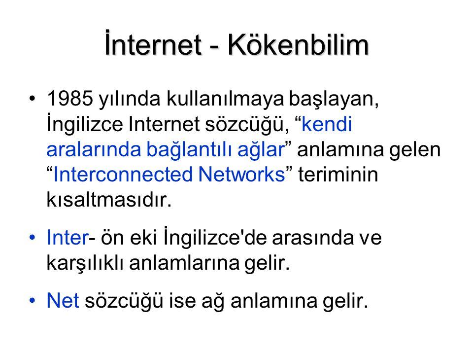 İnternet - Kökenbilim