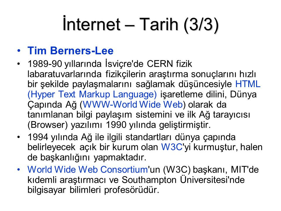 İnternet – Tarih (3/3) Tim Berners-Lee