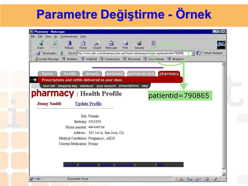 Parametre Değiştirme - Örnek