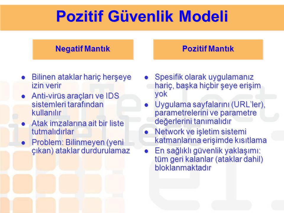 Pozitif Güvenlik Modeli