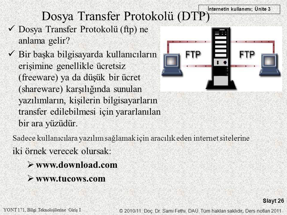 Dosya Transfer Protokolü (DTP)