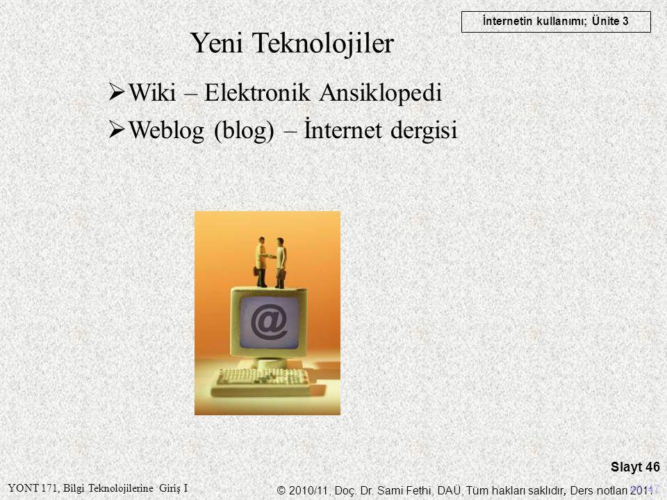 Yeni Teknolojiler Wiki – Elektronik Ansiklopedi