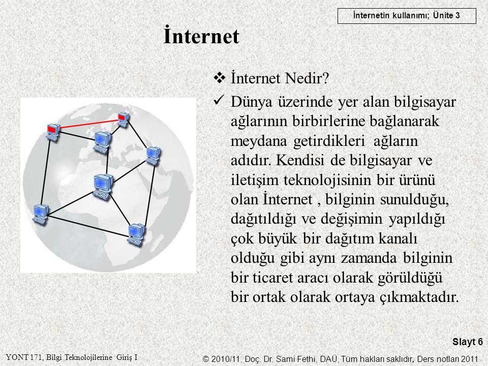 İnternet İnternet Nedir