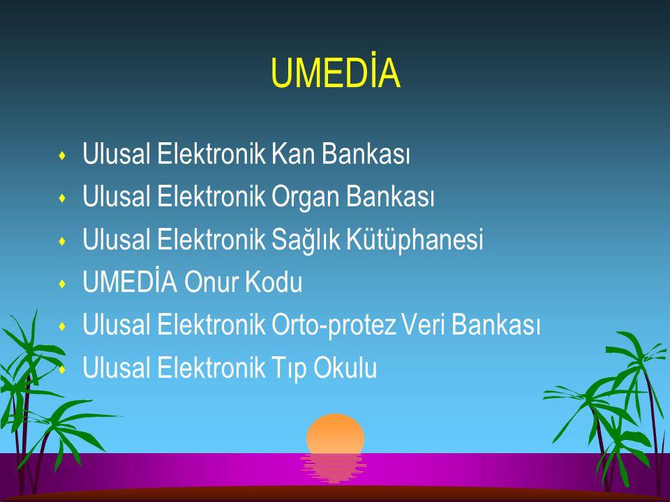 UMEDİA Ulusal Elektronik Kan Bankası Ulusal Elektronik Organ Bankası