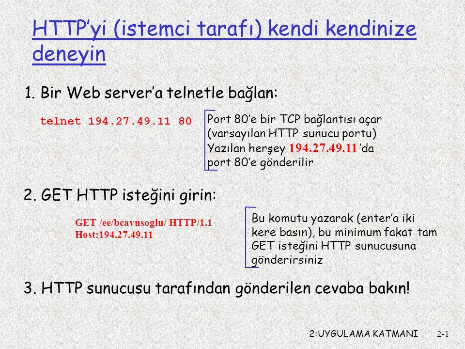 HTTP'yi (istemci tarafı) kendi kendinize deneyin