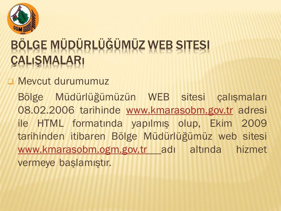 Bölge Müdürlüğümüz WEB Sitesi Çalışmaları