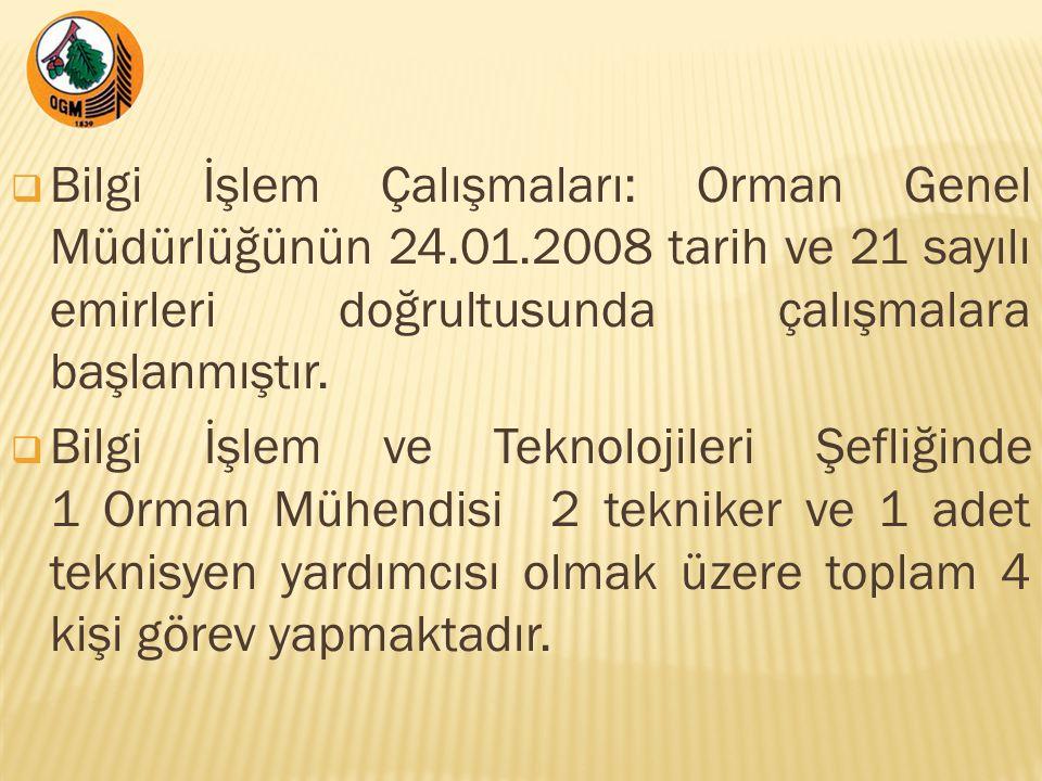 Bilgi İşlem Çalışmaları: Orman Genel Müdürlüğünün 24. 01