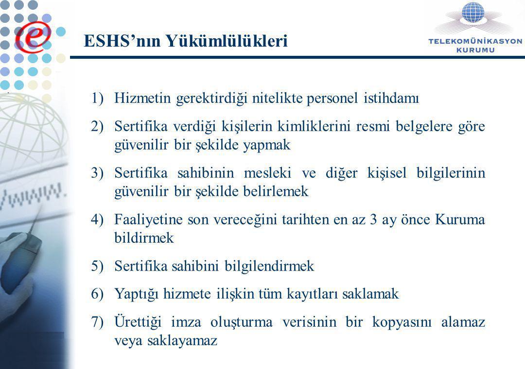 ESHS'nın Yükümlülükleri