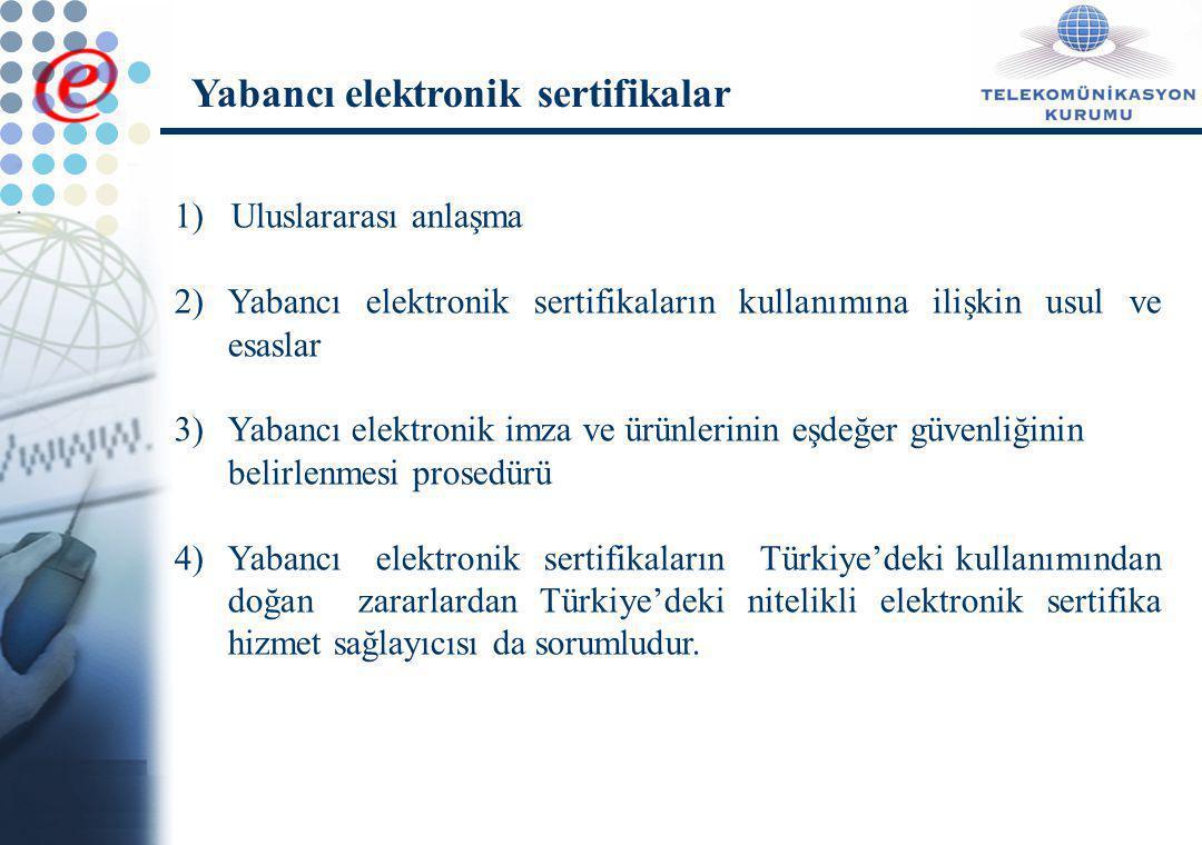 Yabancı elektronik sertifikalar